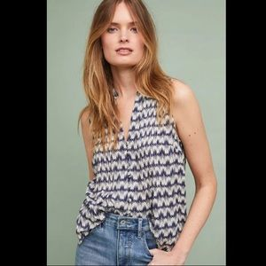 Anthropologie Petunia Pintucked Tank XS by Maeve